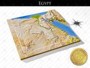 エジプト、高解像度3Dレリーフマップ 3d model