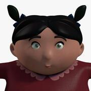 Bambina carina 3d model