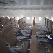 空中客车A320经济舱内饰 3d model