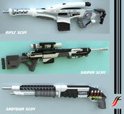 Coleção de armas SCIFI 3d model