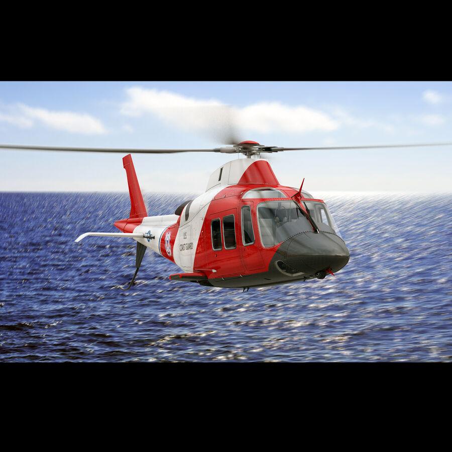 Agusta AW 109 Sahil Güvenlik royalty-free 3d model - Preview no. 3