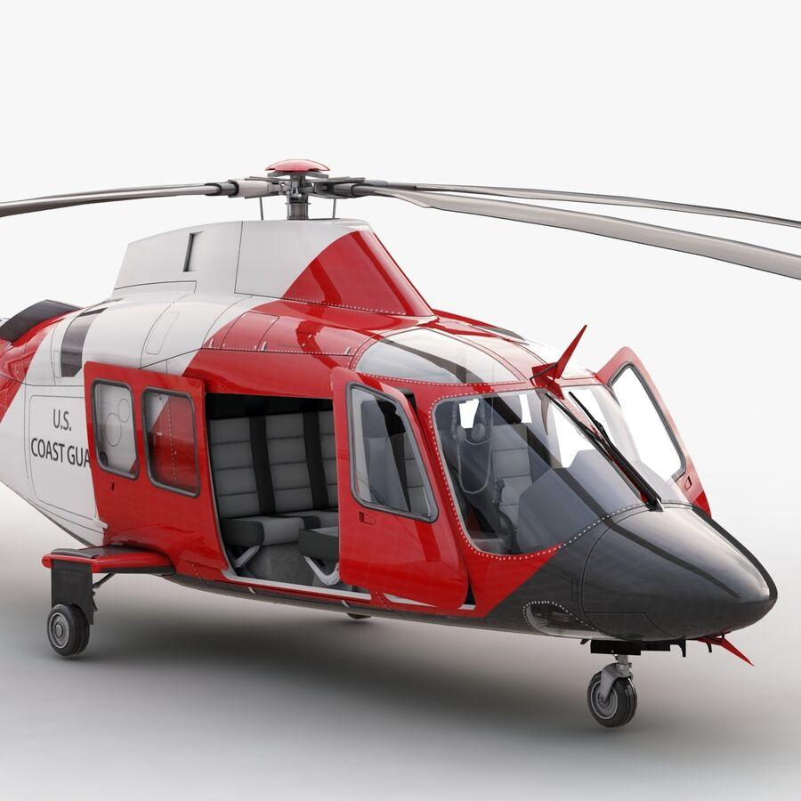 Agusta AW 109 Sahil Güvenlik royalty-free 3d model - Preview no. 10