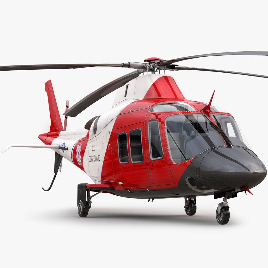 Agusta AW 109 Sahil Güvenlik royalty-free 3d model - Preview no. 1