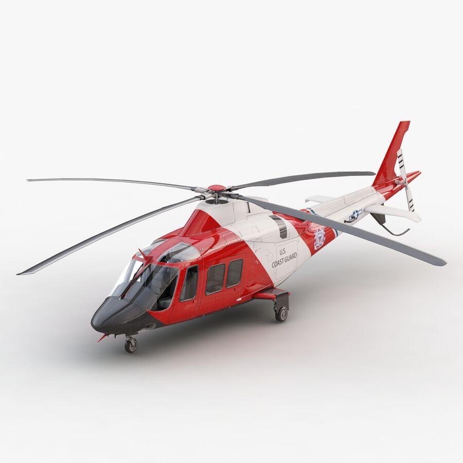 Agusta AW 109 Sahil Güvenlik royalty-free 3d model - Preview no. 6