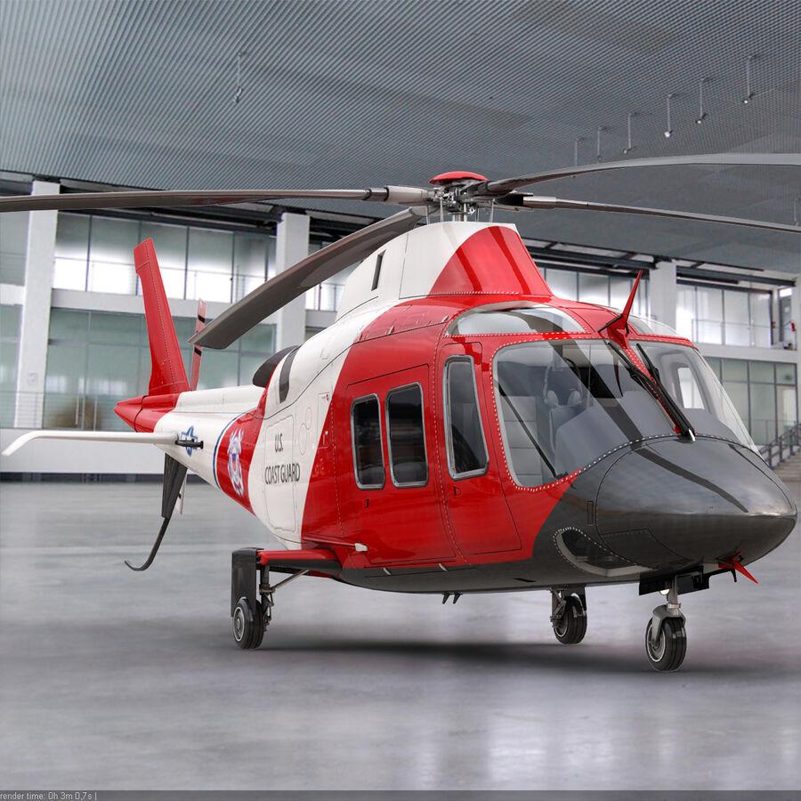 Agusta AW 109 Sahil Güvenlik royalty-free 3d model - Preview no. 2