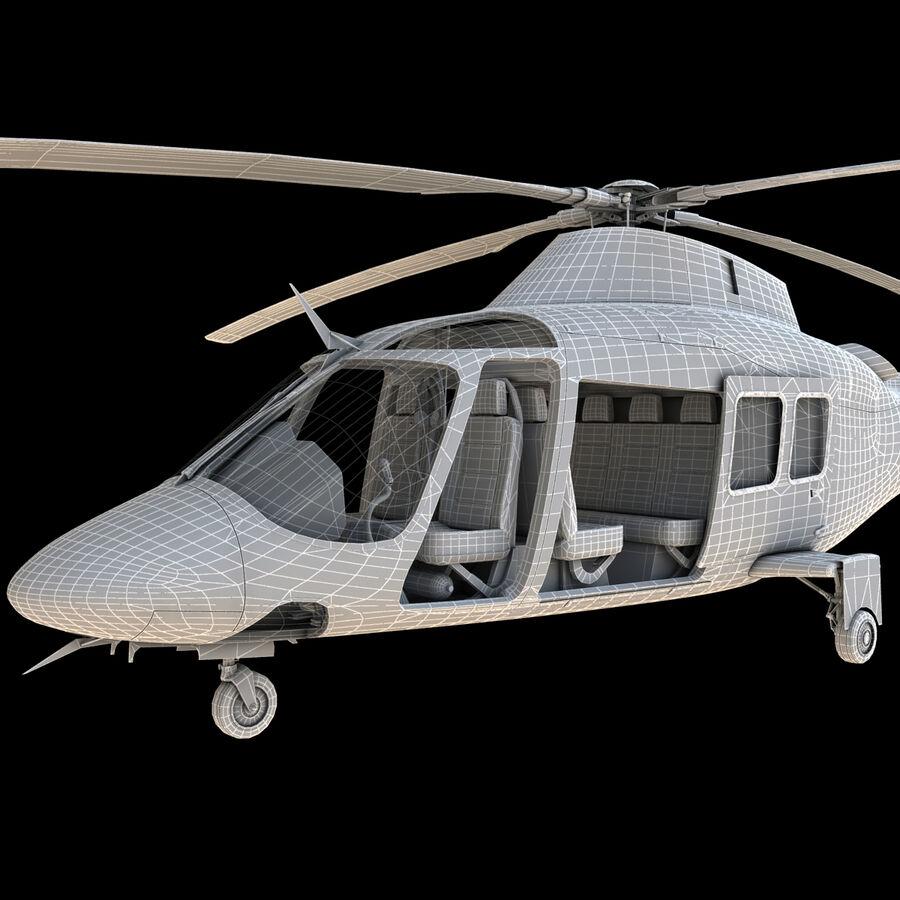 Agusta AW 109 Sahil Güvenlik royalty-free 3d model - Preview no. 18