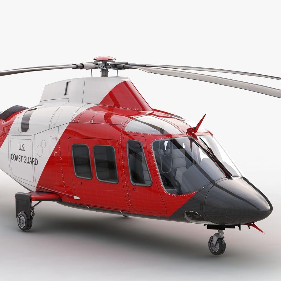 Agusta AW 109 Sahil Güvenlik royalty-free 3d model - Preview no. 9