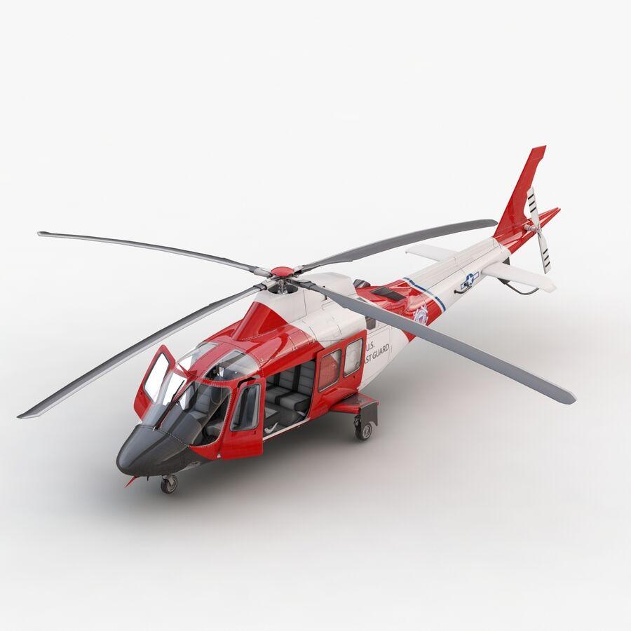 Agusta AW 109 Sahil Güvenlik royalty-free 3d model - Preview no. 7