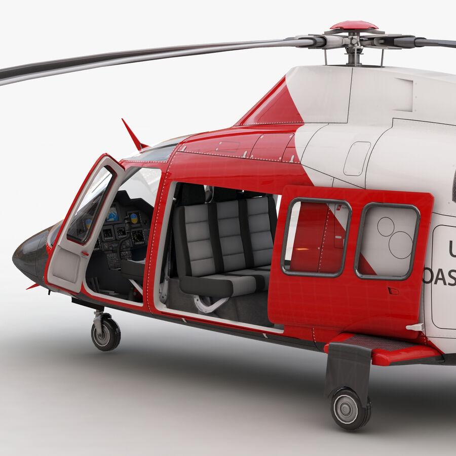 Agusta AW 109 Sahil Güvenlik royalty-free 3d model - Preview no. 11
