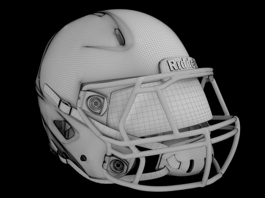 Kask piłkarski Riddell 360 royalty-free 3d model - Preview no. 6
