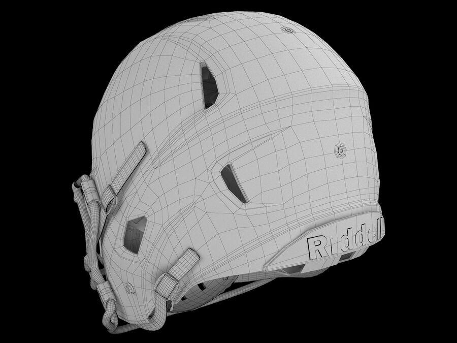 Kask piłkarski Riddell 360 royalty-free 3d model - Preview no. 8