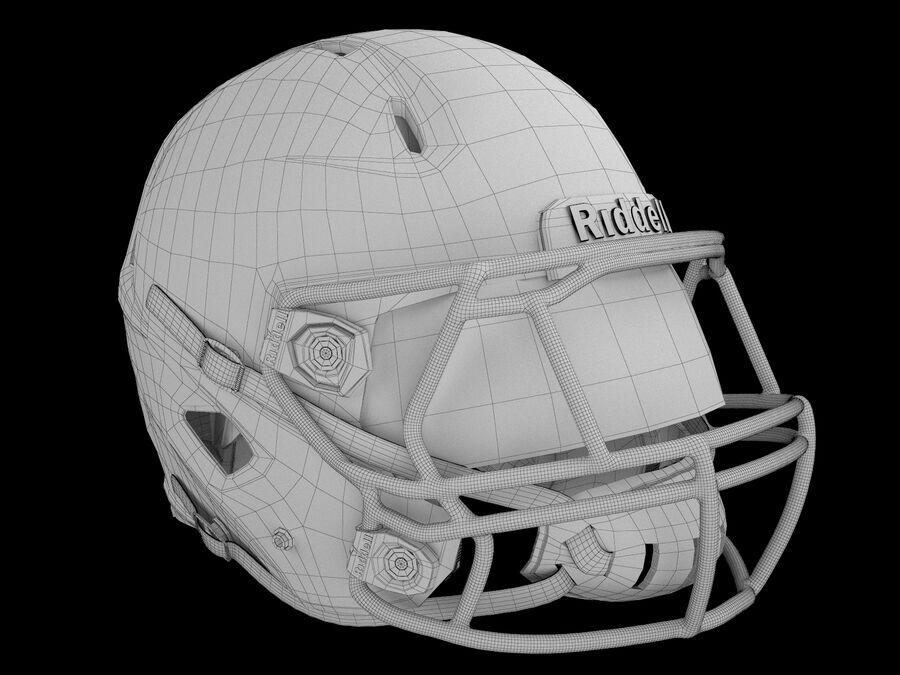 Kask piłkarski Riddell 360 royalty-free 3d model - Preview no. 7