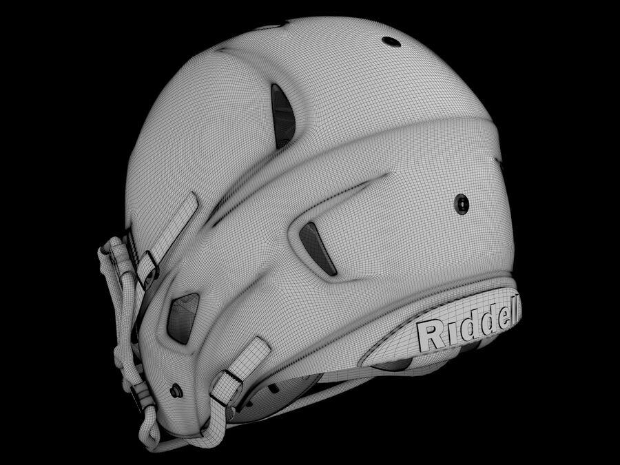 Kask piłkarski Riddell 360 royalty-free 3d model - Preview no. 4