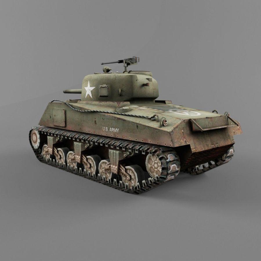 M4A2 royalty-free 3d model - Preview no. 3
