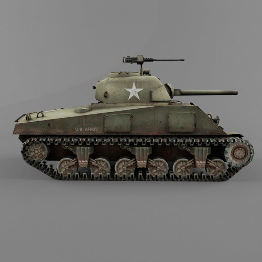 M4A2 royalty-free 3d model - Preview no. 6