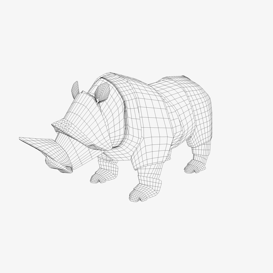 Origami Rhinoceros Royalty Free 3d Model