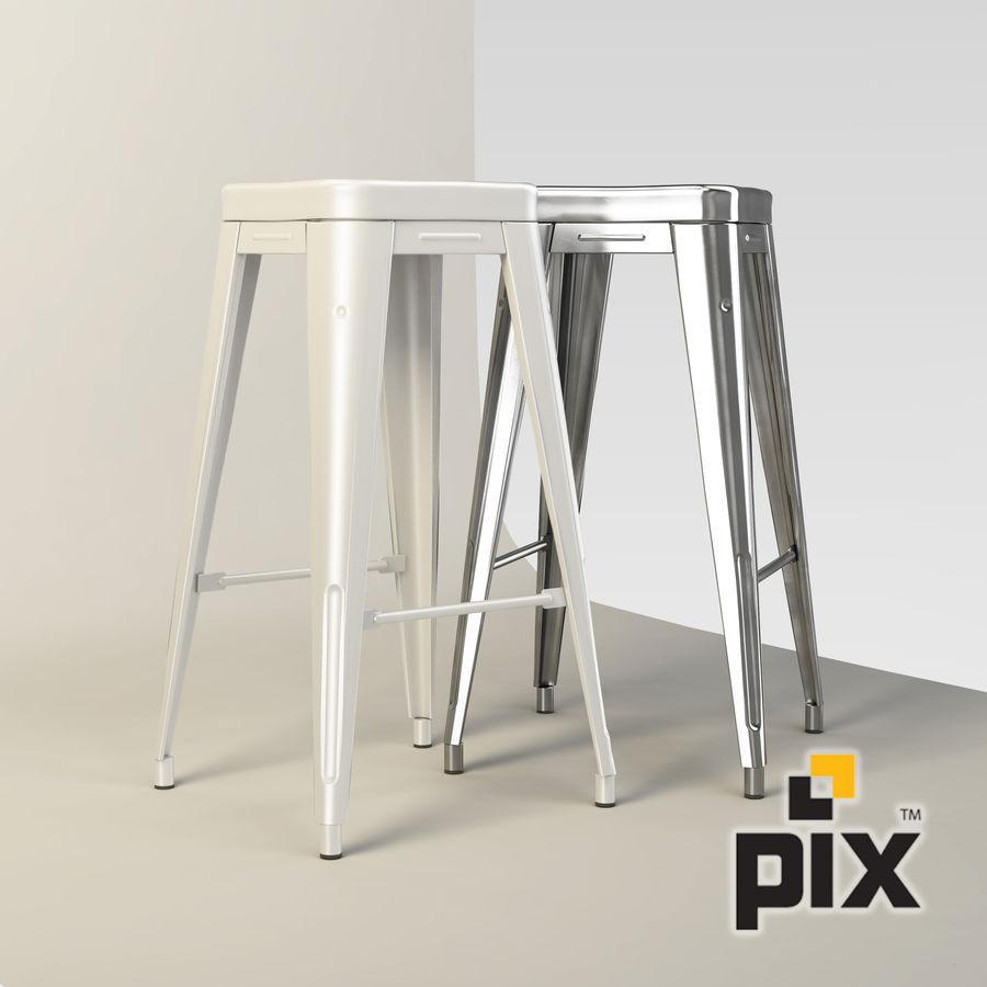 Fine Xavier Pauchard Metal Bar Stool 3D Model 25 Unknown Machost Co Dining Chair Design Ideas Machostcouk