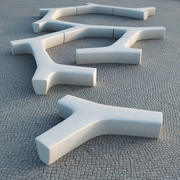 Escofet Twig Modular Bench 3d model