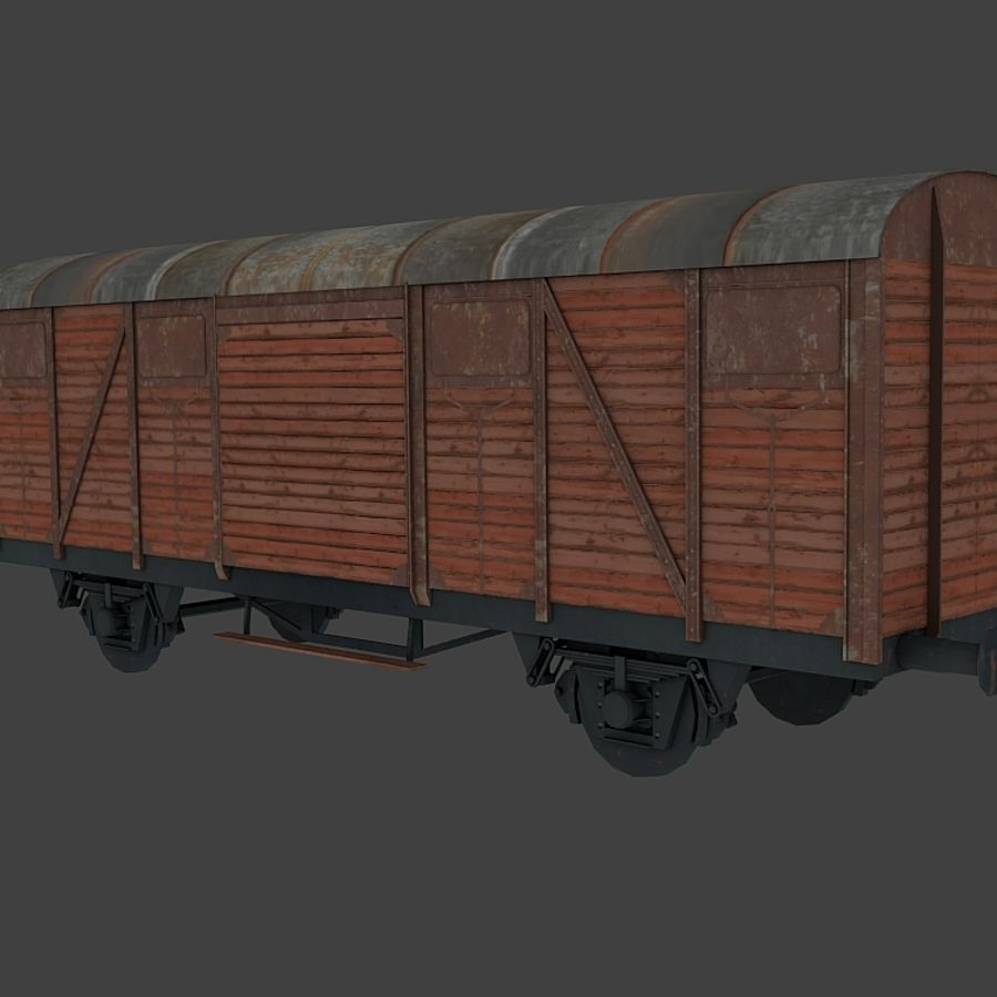 Freight Wagon, train cargo. royalty-free 3d model - Preview no. 1