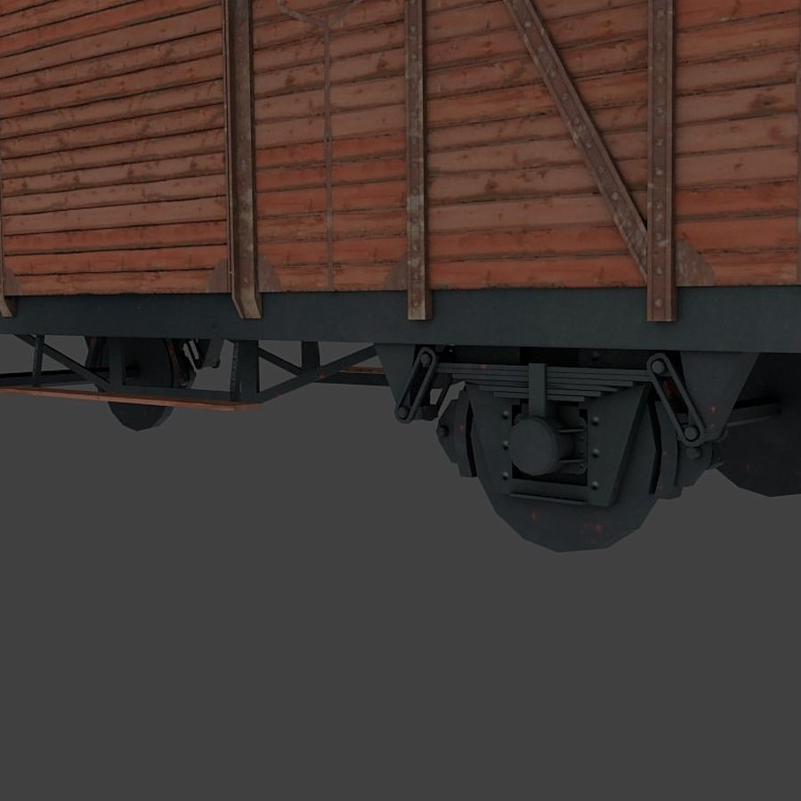 Freight Wagon, train cargo. royalty-free 3d model - Preview no. 4