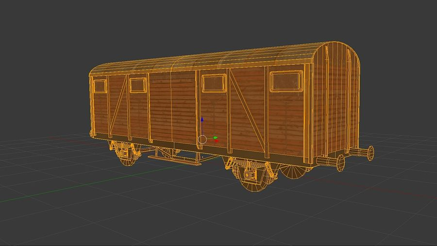 Carro merci, carico del treno. royalty-free 3d model - Preview no. 3