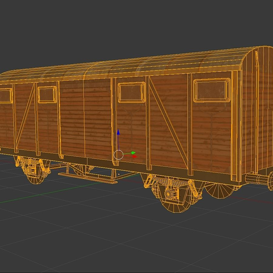 Freight Wagon, train cargo. royalty-free 3d model - Preview no. 3