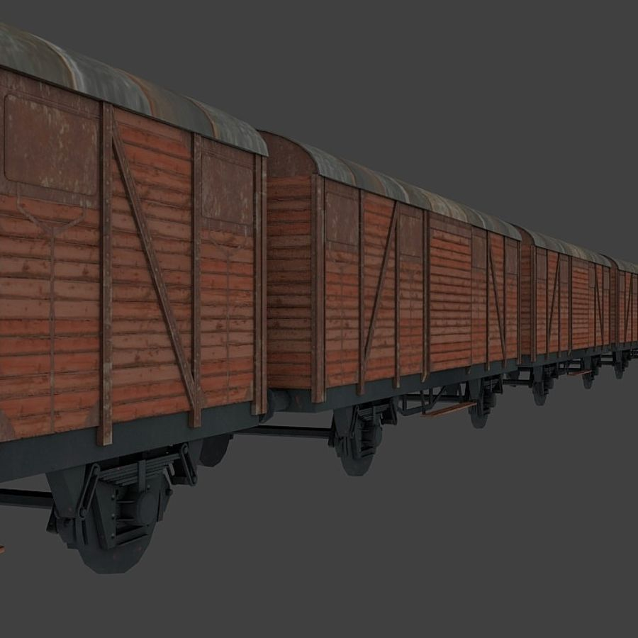Freight Wagon, train cargo. royalty-free 3d model - Preview no. 5