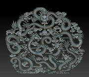 Nine Chinese dragons 3d model