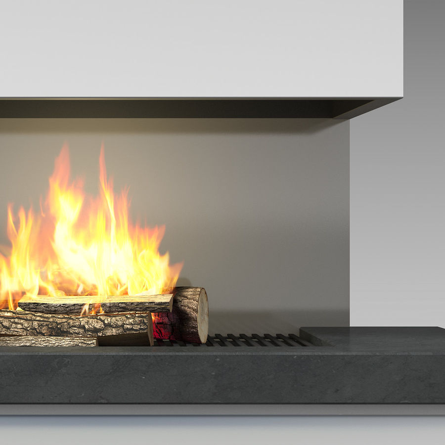 Modern Fireplace royalty-free 3d model - Preview no. 9