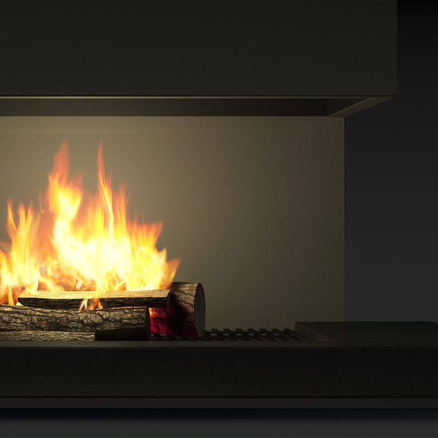 Modern Fireplace royalty-free 3d model - Preview no. 10