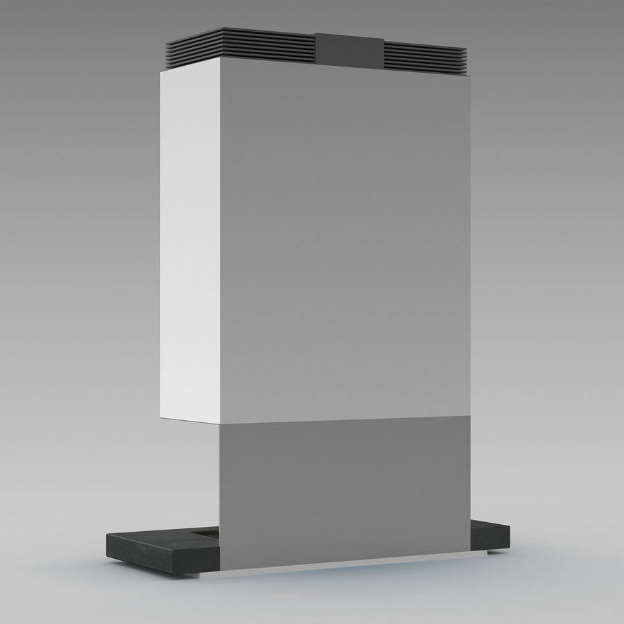 Modern Fireplace royalty-free 3d model - Preview no. 4