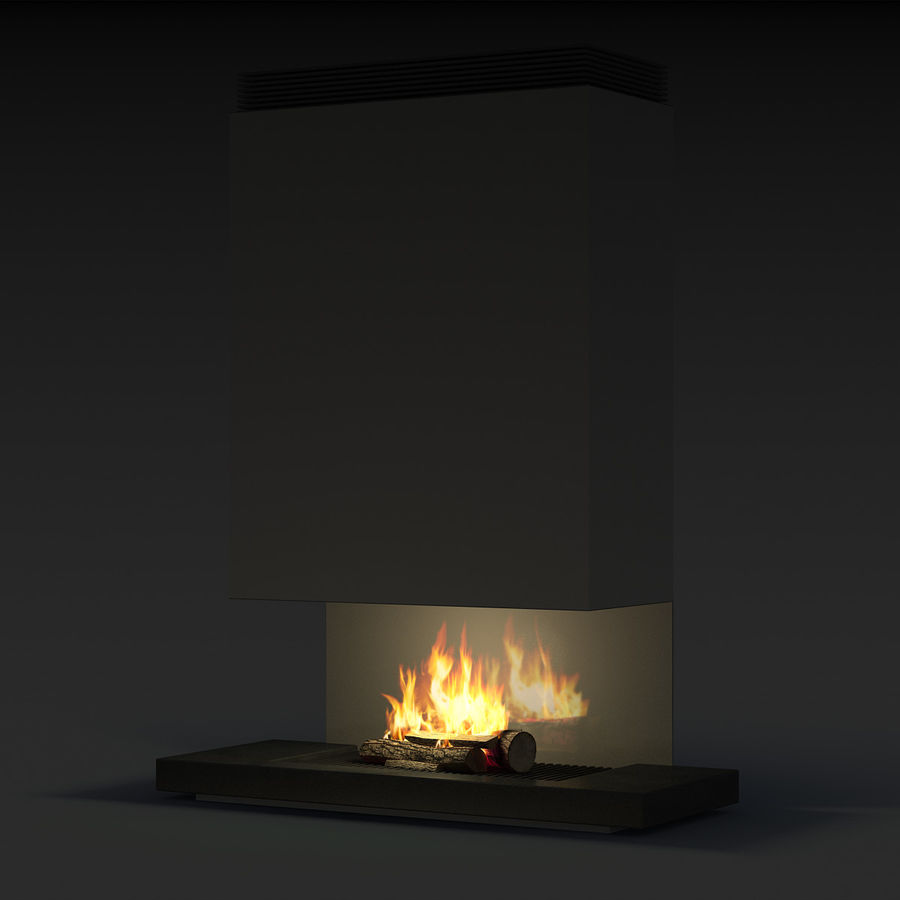 Modern Fireplace royalty-free 3d model - Preview no. 13