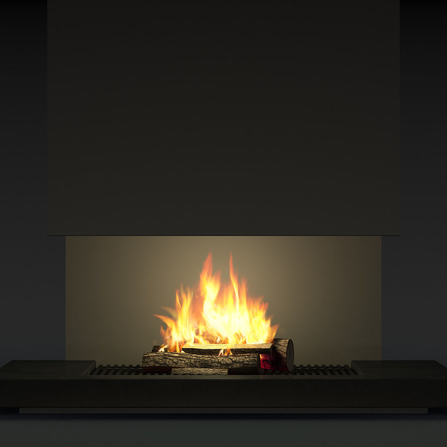 Modern Fireplace royalty-free 3d model - Preview no. 11