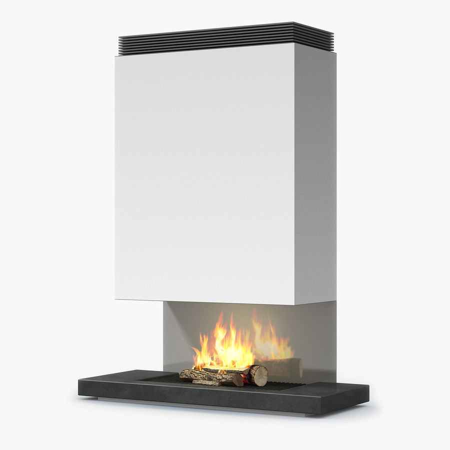 Modern Fireplace royalty-free 3d model - Preview no. 1