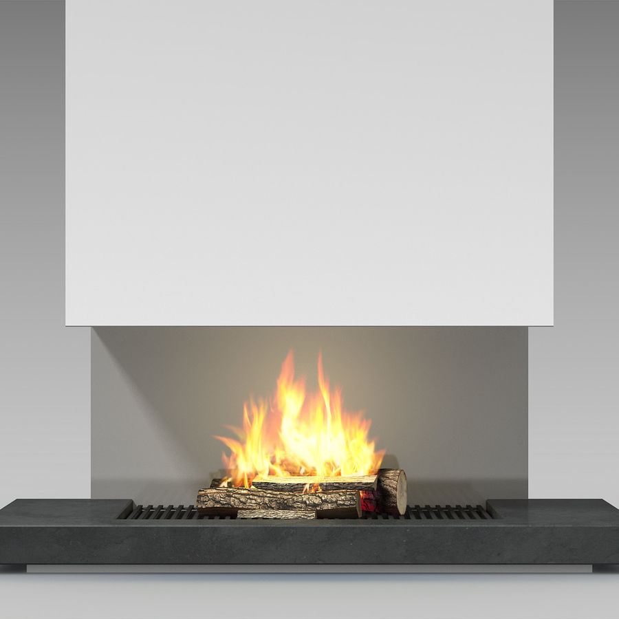 Modern Fireplace royalty-free 3d model - Preview no. 8
