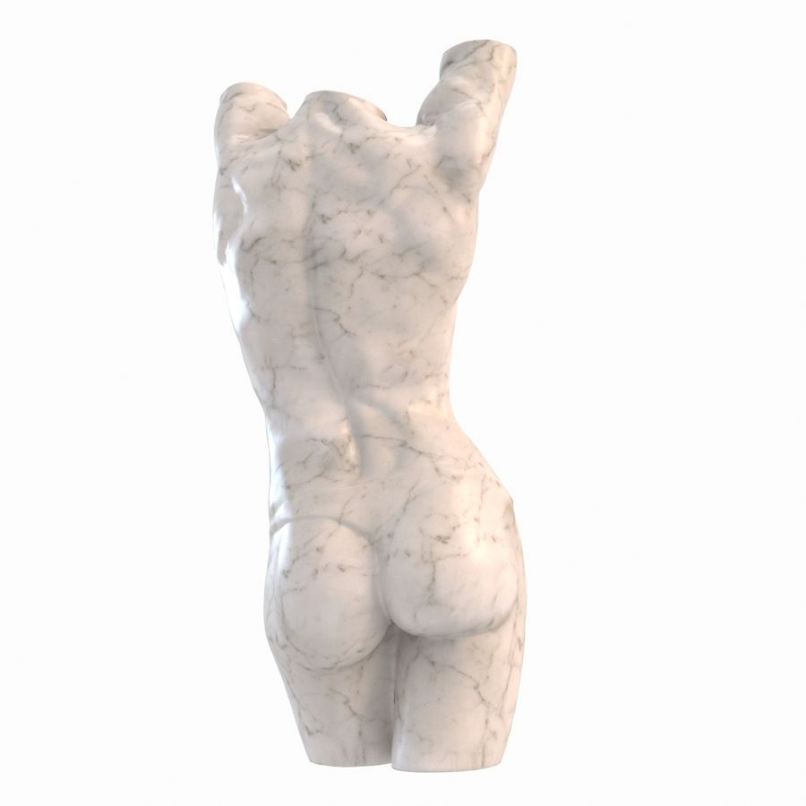 body female royalty-free 3d model - Preview no. 11