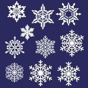 10 Snowflakes 3d model