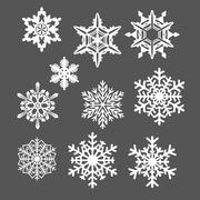 10 fiocchi di neve 3d model