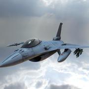 Боевой Самолет 3d model