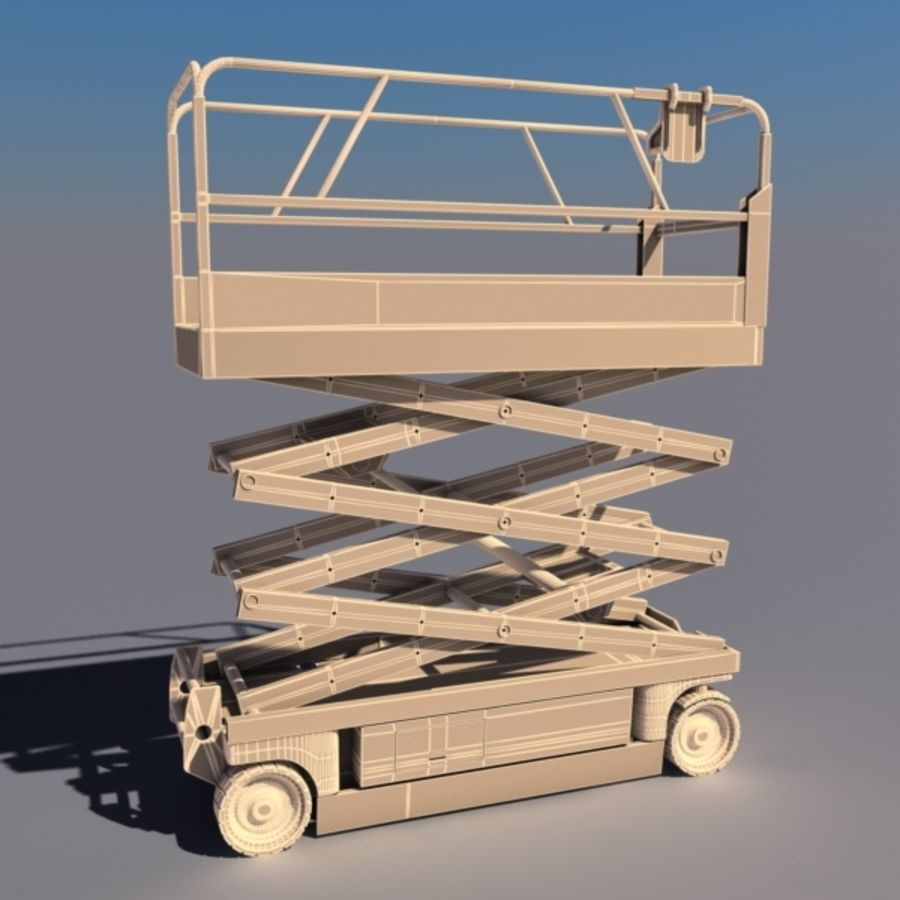Schaarhoogwerker V2 royalty-free 3d model - Preview no. 2