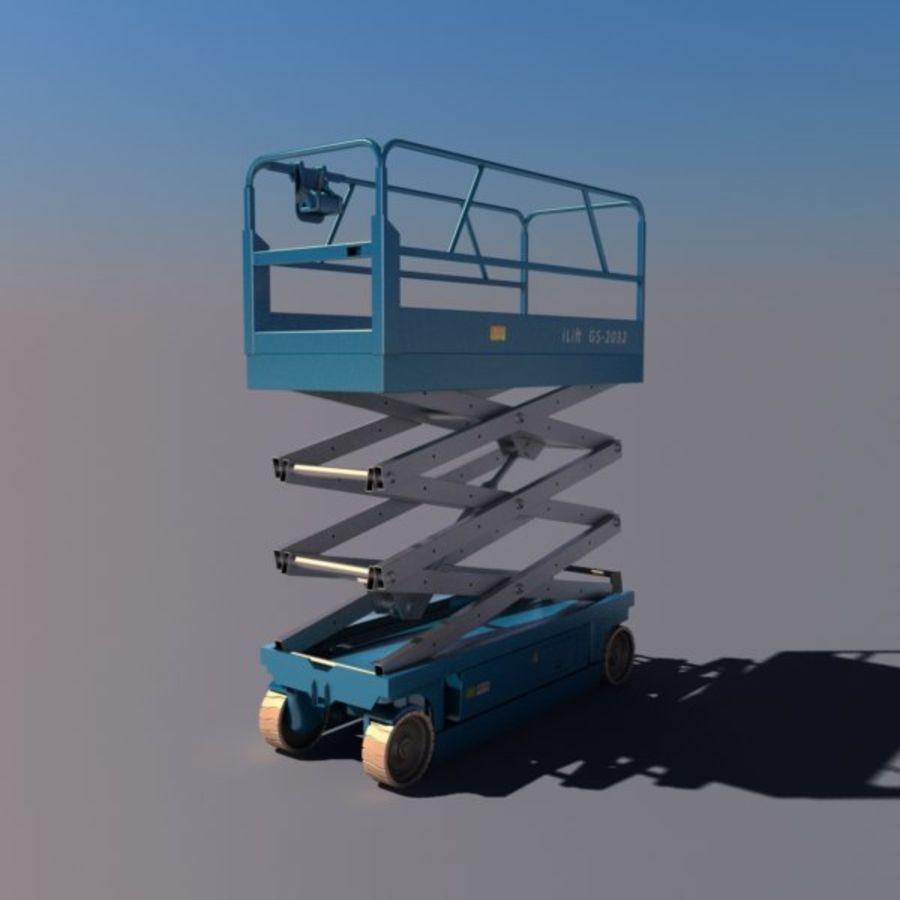 Scissor Lift V2 royalty-free 3d model - Preview no. 7