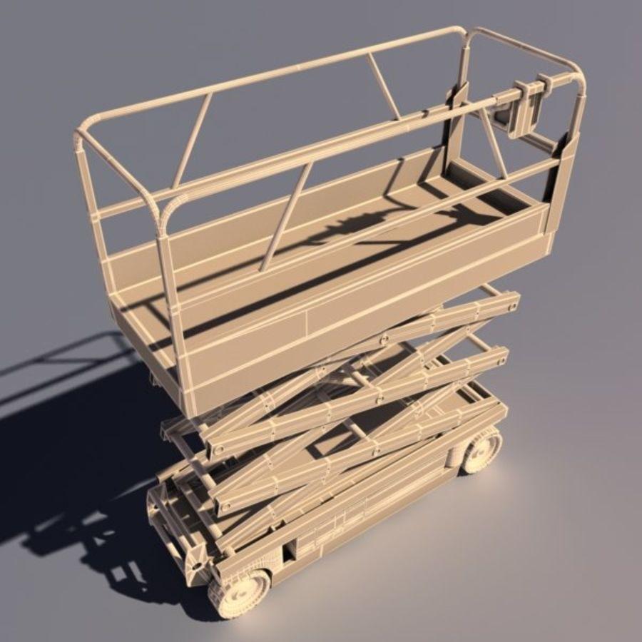 Scissor Lift V2 royalty-free 3d model - Preview no. 6