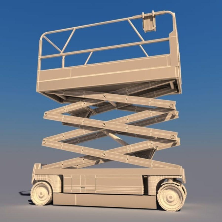 Scissor Lift V2 royalty-free 3d model - Preview no. 4