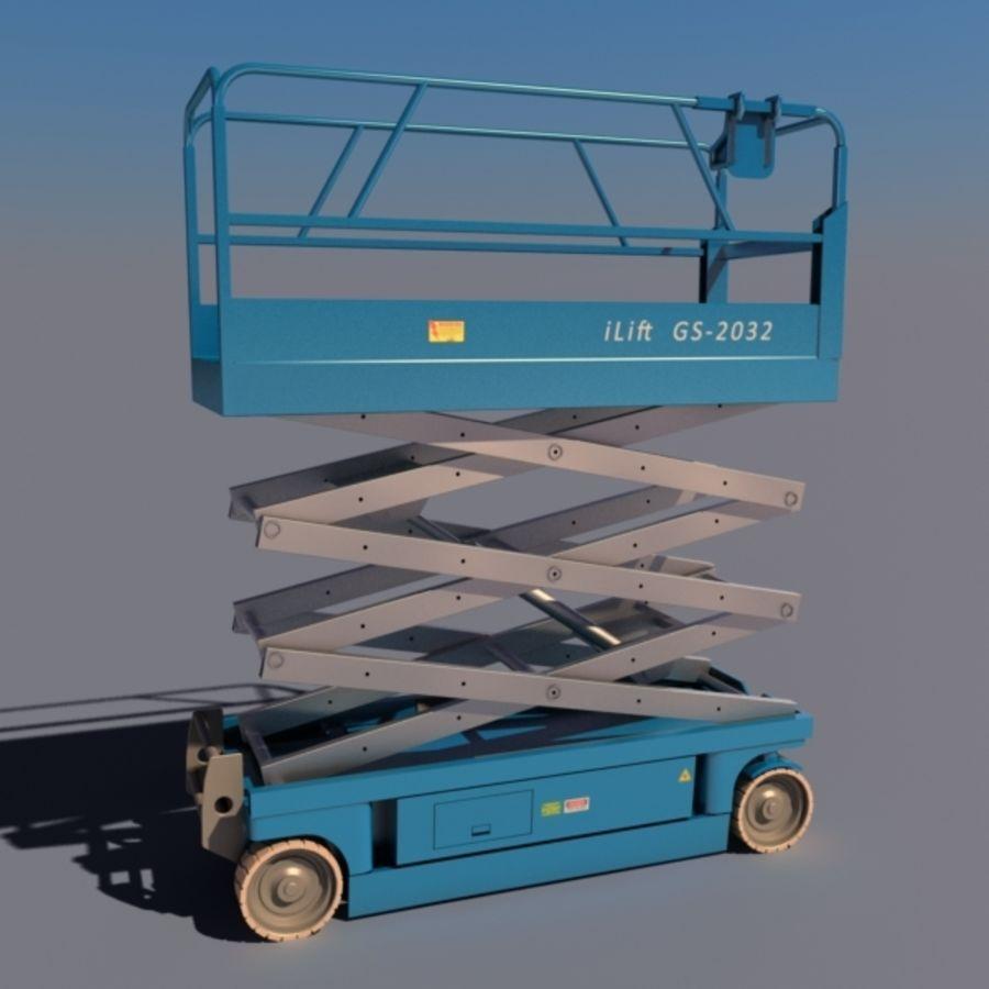 Schaarhoogwerker V2 royalty-free 3d model - Preview no. 1