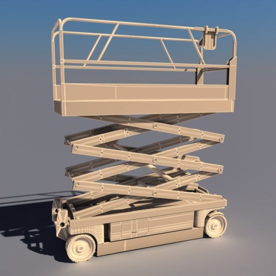 Scissor Lift V2 royalty-free 3d model - Preview no. 2