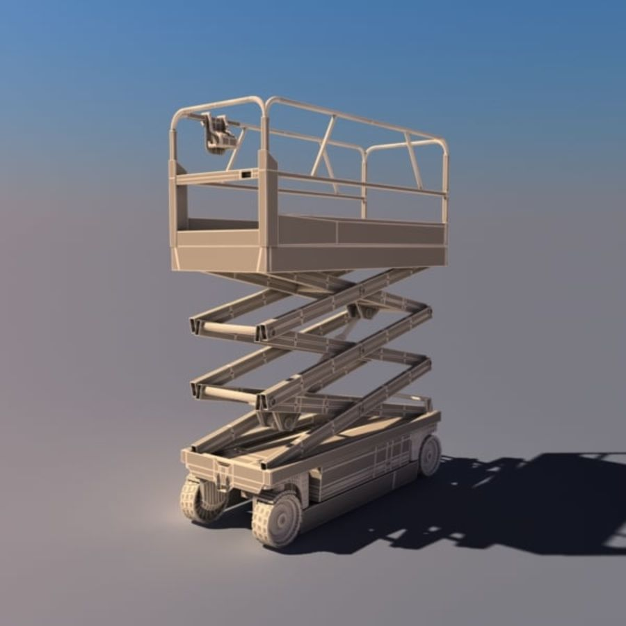 Scissor Lift V2 royalty-free 3d model - Preview no. 8