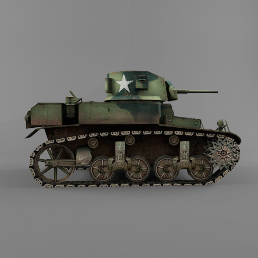 M3 Stuart royalty-free 3d model - Preview no. 6