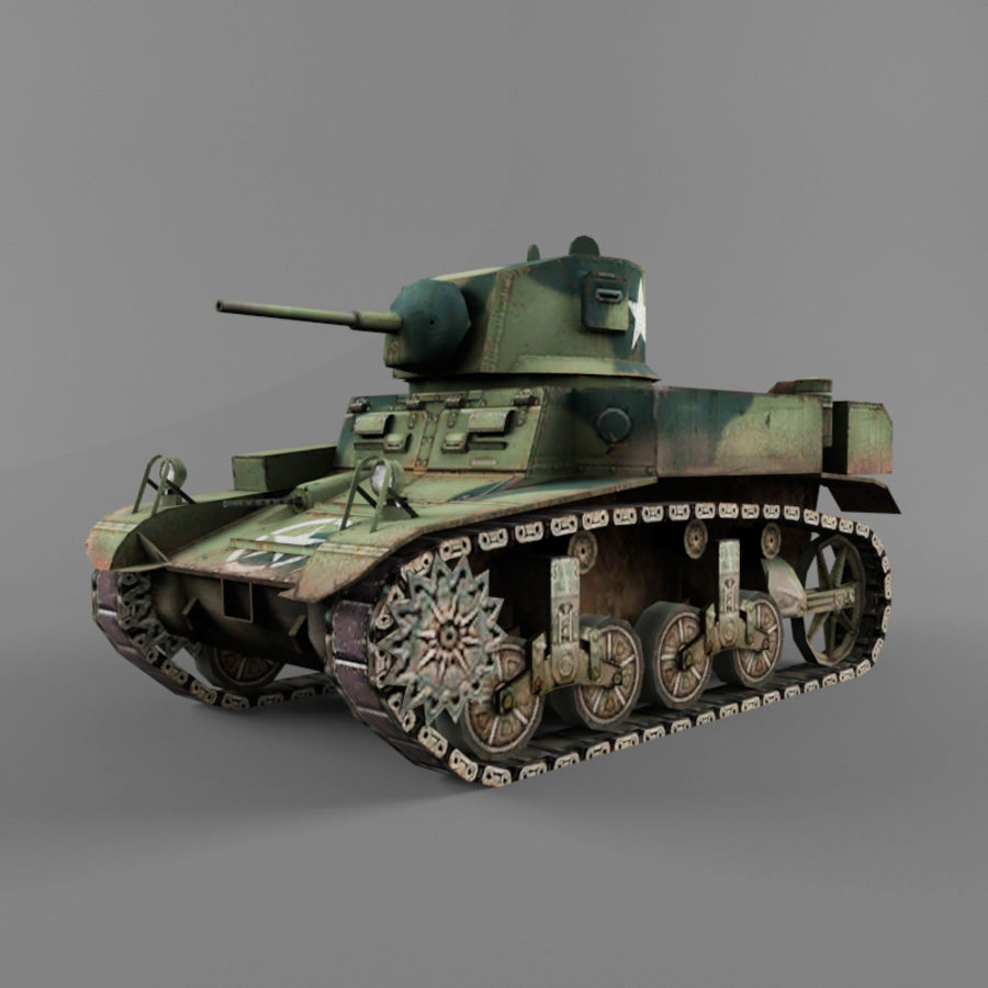 M3 Stuart royalty-free 3d model - Preview no. 1