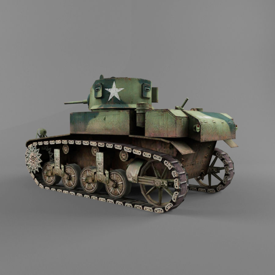 M3 Stuart royalty-free 3d model - Preview no. 3