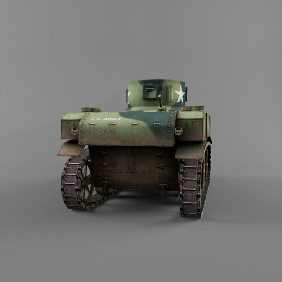 M3 Stuart royalty-free 3d model - Preview no. 4